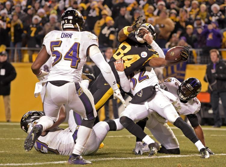 Antonio Brown, Steelers vs Ravens, Steelers Christmas win Ravens